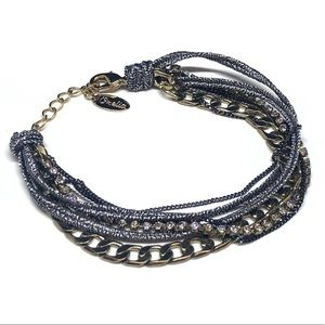 Jewelry - Orelia London Multirow Bracelet Chain Cord Crystal